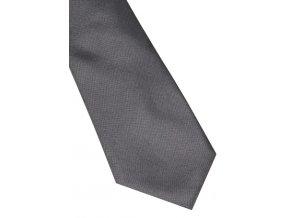 Úzká hedvábná kravata Eterna - šedá