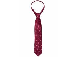 Hedvábná kravata Eterna - bordó a béžové tečky