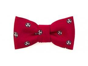 Mini motýlek Avantgard - červený - fotbal