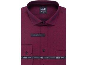 Pánská košile AMJ Slim fit Vínová