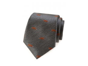 Kravata Avantgard Lux - šedá / liška