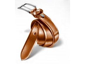 Pánský kožený opasek - cognac