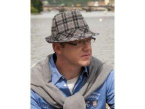 Pánský vlněný klobouk  - káro