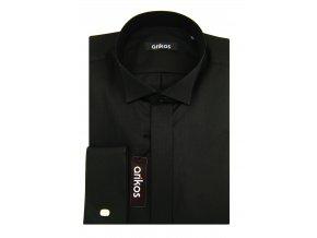 Společenská fraková košile Arikos - hladká Černá