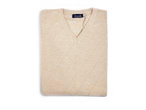 Pánská vesta Ilmodo - světle hnědá