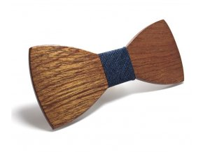 Dřevěný motýlek - hnědý