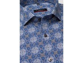 Košile Eterna Modern Fit s prodlouženým rukávem Modrá