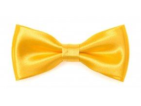 Dvojitý motýlek Avantgard s kapesníčkem - žlutý