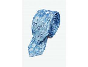 Úzká kravata s kapesníčkem Brinkleys - modrá