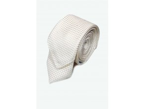 Úzká kravata s kapesníčkem Brinkleys - šampaň