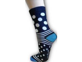 Puntíkaté ponožky - tyrkysové
