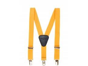 Clapecké šle Avantgard - žluté, černá kůže 100 cm