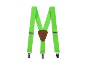 Clapecké šle Avantgard - zelené, tmavě hnědá kůže 120 cm