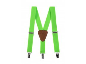 Clapecké šle Avantgard - zelené, tmavě hnědá kůže 140 cm