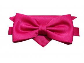 Dvojitý motýlek Brinkleys Classic s kapesníčkem - sytě růžový