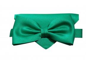 Dvojitý motýlek Brinkleys Classic s kapesníčkem - zelený