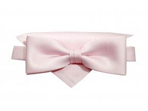 Dvojitý motýlek Brinkleys Modern s kapesníčkem - růžový