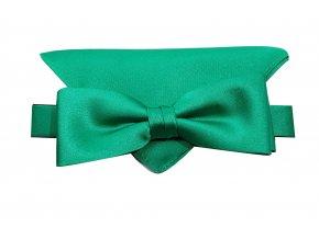 Dvojitý motýlek Brinkleys Modern s kapesníčkem - zelený