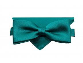 Dvojitý motýlek Brinkleys Modern s kapesníčkem - smaragdový