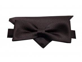 Dvojitý motýlek Brinkleys Modern s kapesníčkem - černý