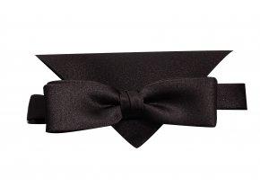 Dvojitý motýlek Brinkleys Slim s kapesníčkem - černý