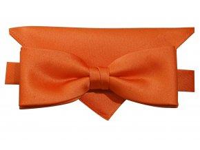 Dvojitý motýlek Brinkleys Modern s kapesníčkem - oranžový