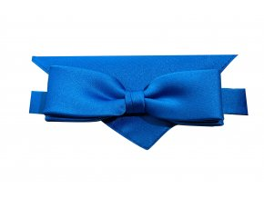 Dvojitý motýlek Brinkleys Slim s kapesníčkem - královská modrá