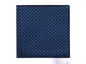 Kapesníček hedvábný PREMIUM - modrý