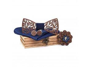 Dřevěný motýlek - 4 dílná souprava