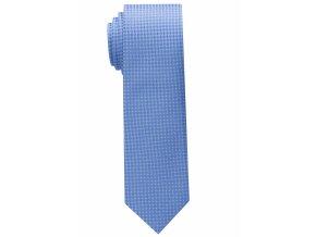 Úzká kravata Eterna - světle modrá s bílými tečkami