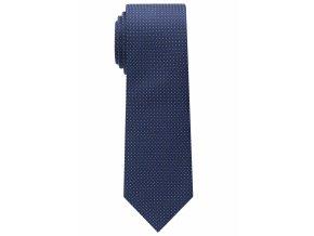 Úzká kravata Eterna - navy modrá s bílými tečkami