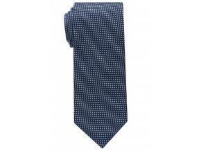 Vzorovaná hedvábná kravata Eterna - tmavě modrá