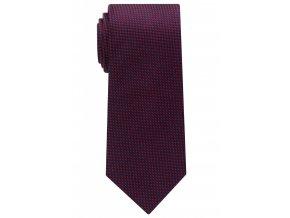 Vzorovaná hedvábná kravata Eterna - modrá / červená