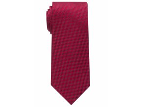 Vzorovaná hedvábná kravata Eterna - červená