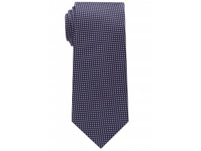 Vzorovaná hedvábná kravata Eterna - modrá / růžová