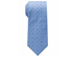 Vzorovaná hedvábná kravata Eterna - světle modrá