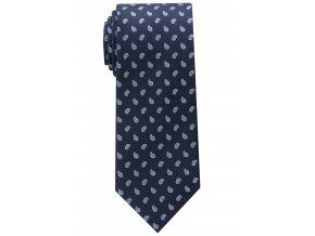 Vzorovaná hedvábná kravata Eterna - navy modrá