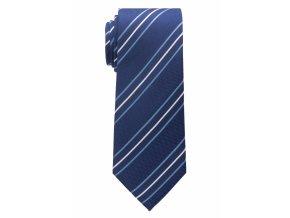 Vzorovaná kravata Eterna - modrá s pruhy