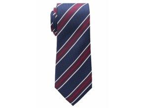 Vzorovaná kravata Eterna - modrá s červenými pruhy