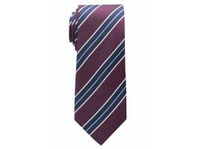 Vzorovaná kravata Eterna - bordó s pruhy
