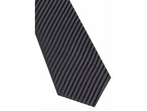 Hedvábná kravata Eterna - pruhovaná černá