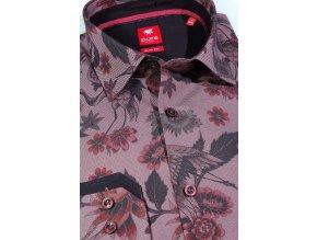 Košile Pure Slim Fit - Jeřáb vínový