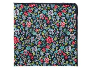 Kapesníček Avantgard LUX - modrý s květy