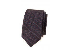 Úzká luxusní kravata Avantgard - hnědá