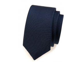 Úzká kravata Avantgard - modrá matná
