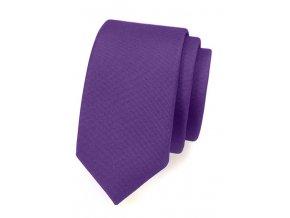 Úzká luxusní kravata Avantgard - fialová