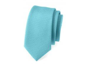 Úzká luxusní kravata Avantgard - tyrkysová