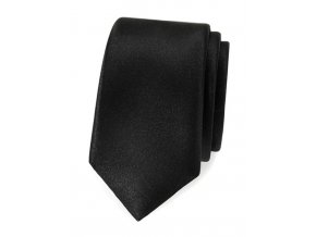 Úzká kravata Avantgard Lux - černá
