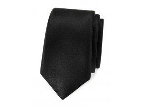 Úzká luxusní kravata Avantgard - černá