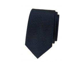 Úzká luxusní kravata Avantgard - modrá
